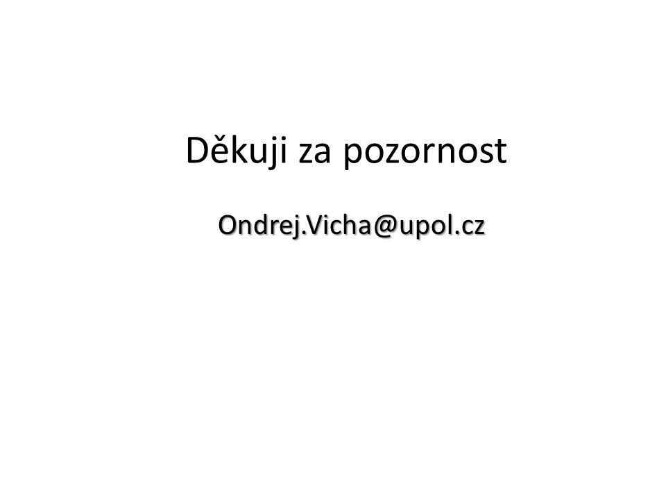 Děkuji za pozornost Ondrej.Vicha@upol.cz
