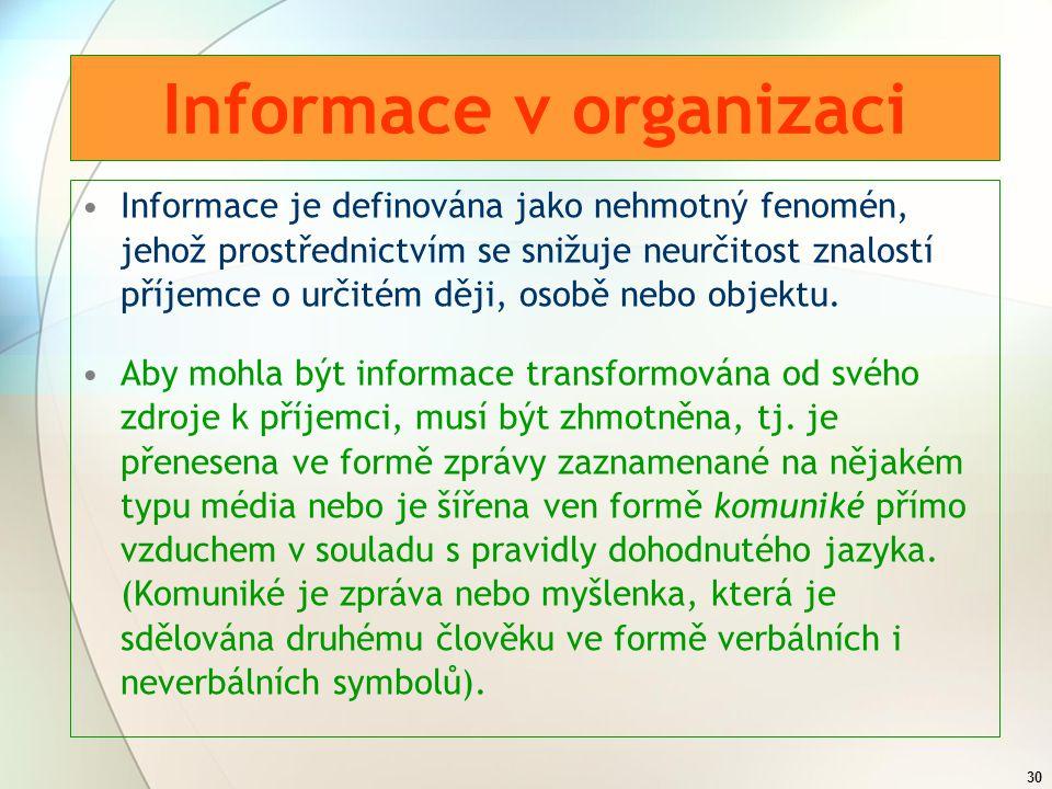 Informace v organizaci