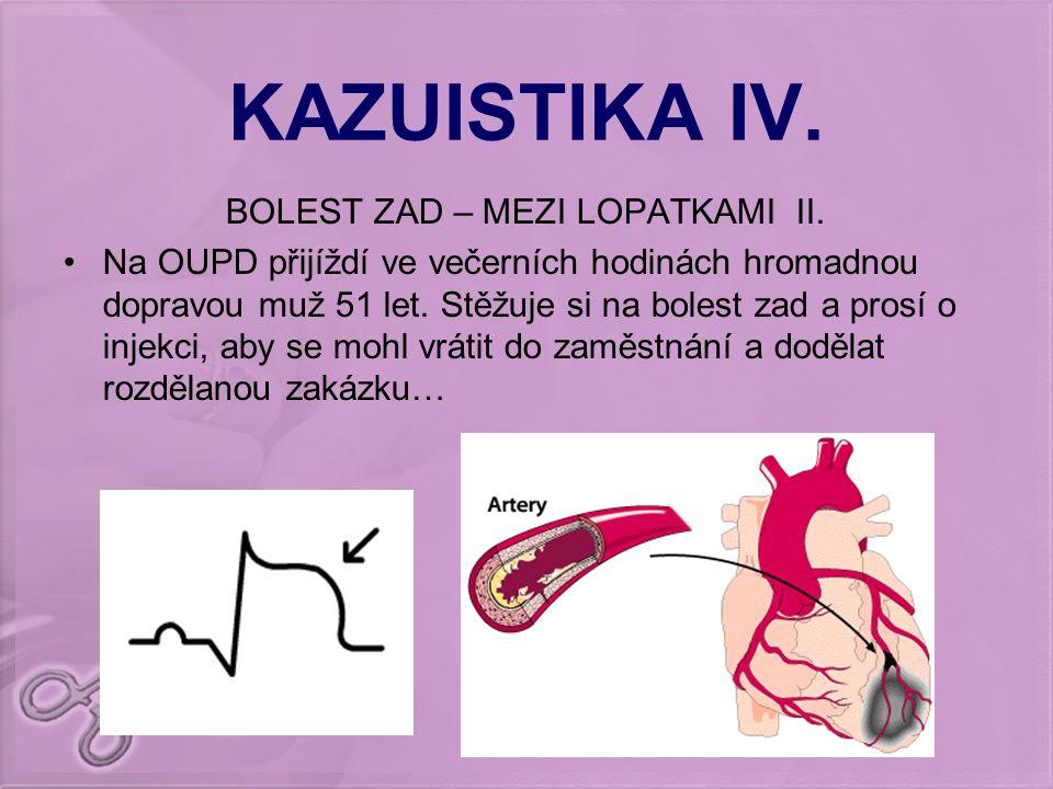 BOLEST ZAD – MEZI LOPATKAMI II.