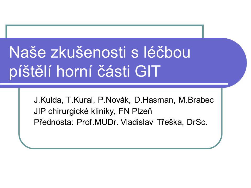 Naše zkušenosti s léčbou píštělí horní části GIT