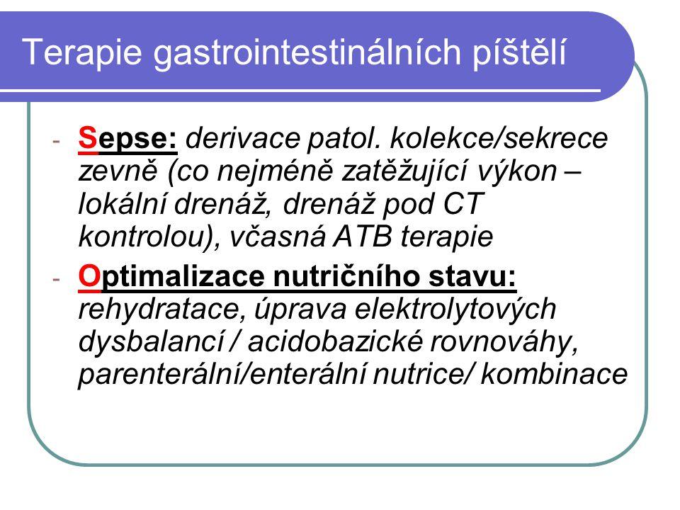 Terapie gastrointestinálních píštělí