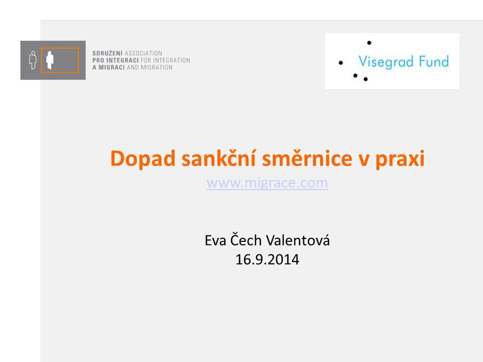 Dopad sankční směrnice v praxi