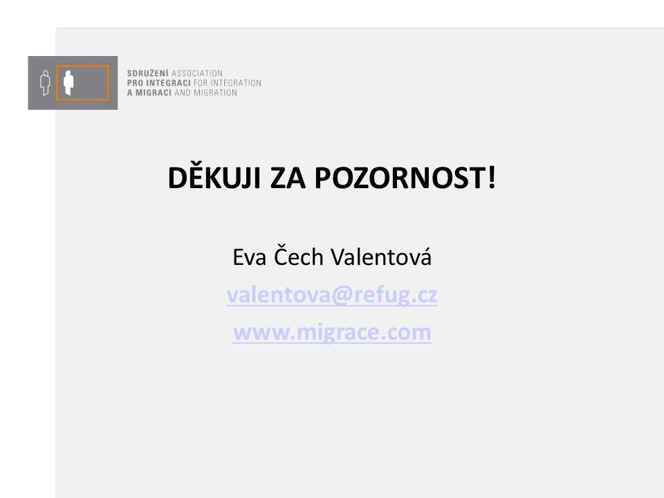 DĚKUJI ZA POZORNOST! Eva Čech Valentová valentova@refug.cz