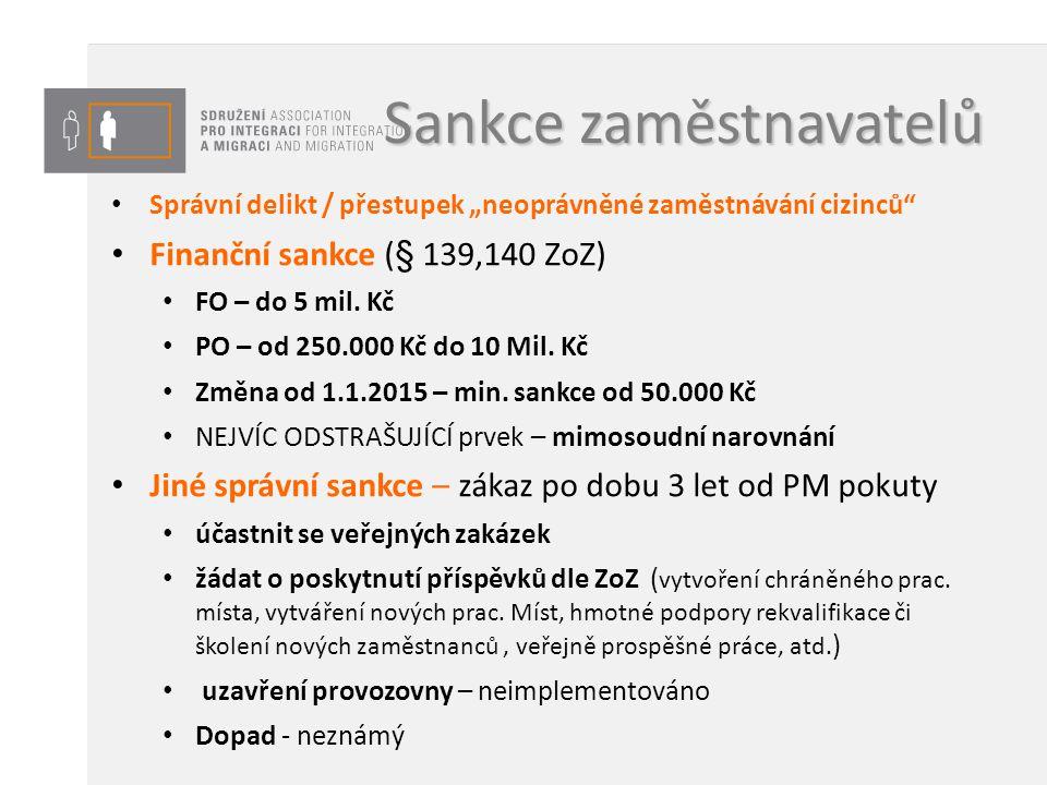 Sankce zaměstnavatelů