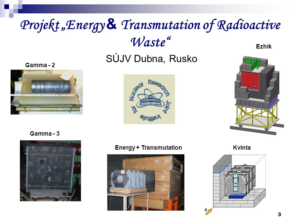 "Projekt ""Energy & Transmutation of Radioactive Waste"