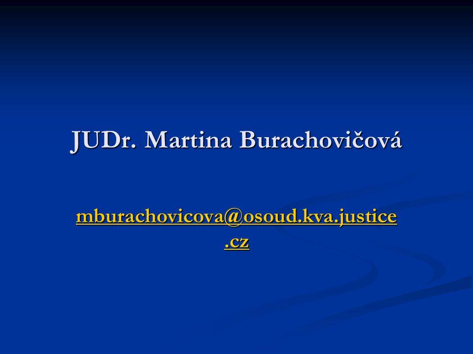 JUDr. Martina Burachovičová