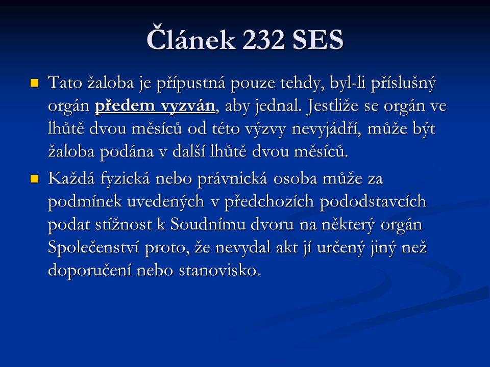 Článek 232 SES