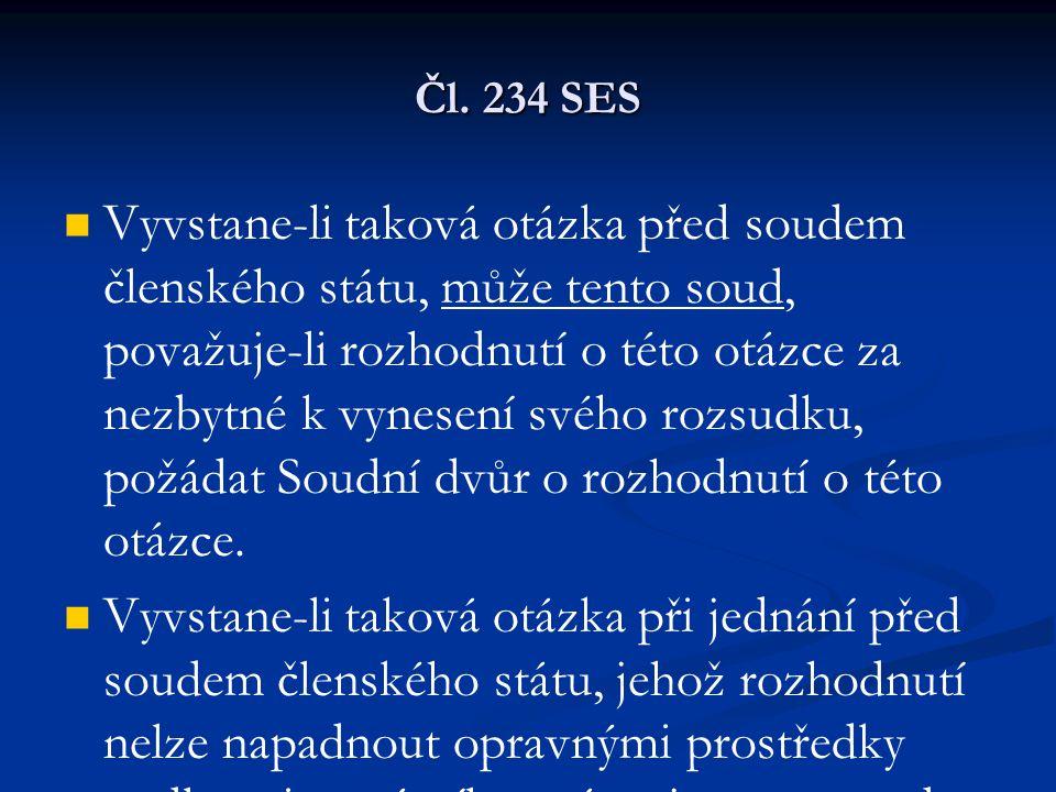 Čl. 234 SES