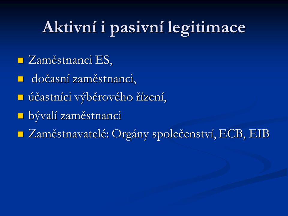 Aktivní i pasivní legitimace