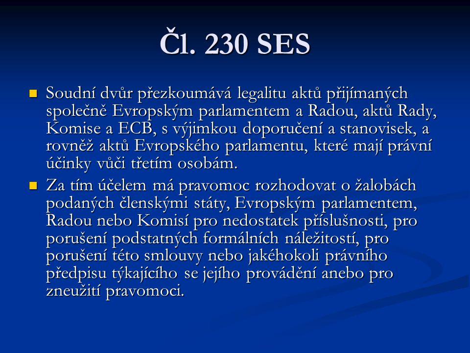 Čl. 230 SES
