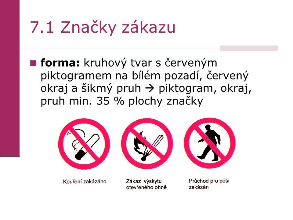 7.1 Značky zákazu