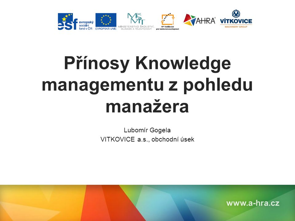 Přínosy Knowledge managementu z pohledu manažera