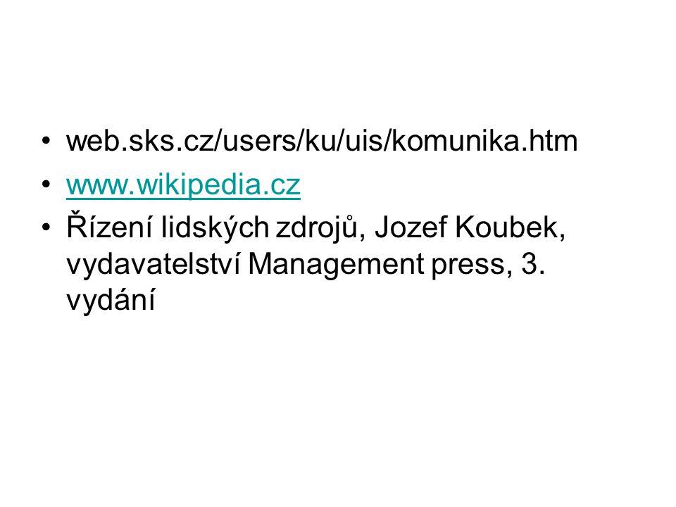web.sks.cz/users/ku/uis/komunika.htm www.wikipedia.cz.