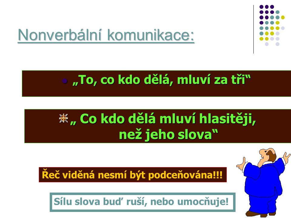 Nonverbální komunikace:
