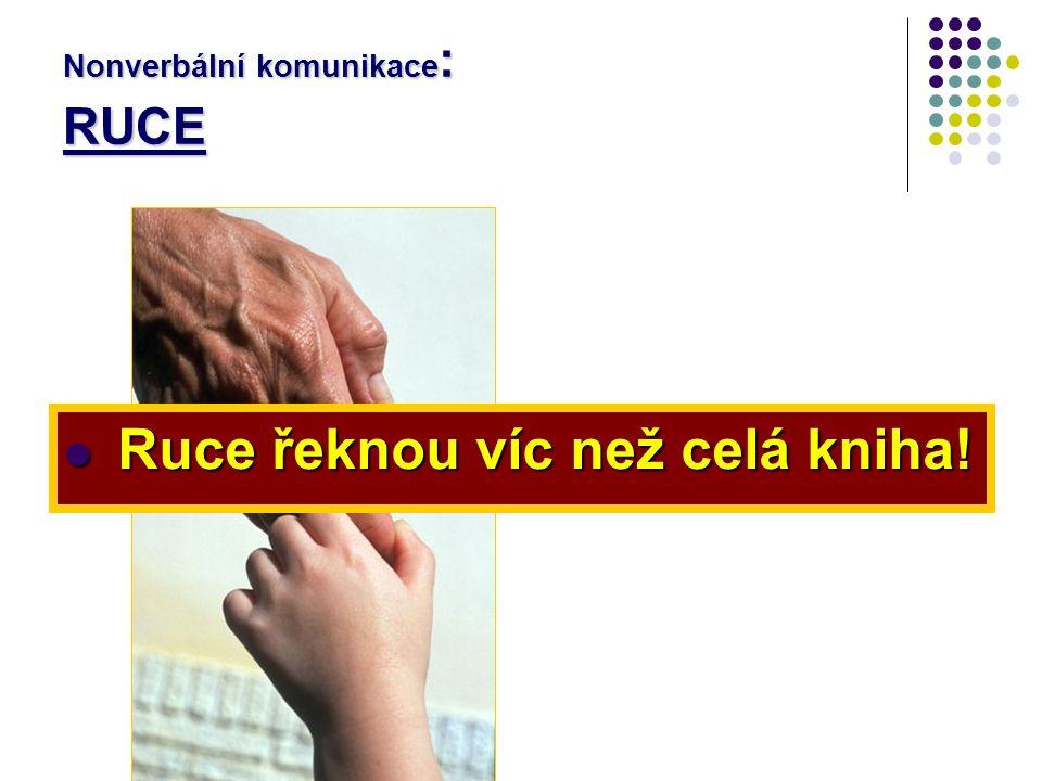 Nonverbální komunikace: RUCE