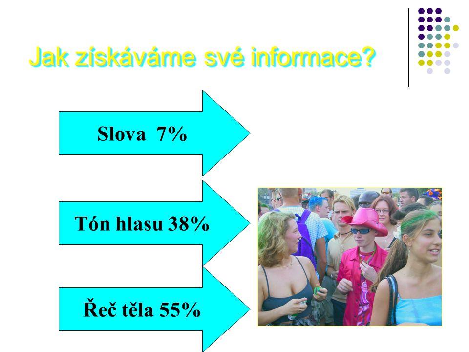 Jak získáváme své informace