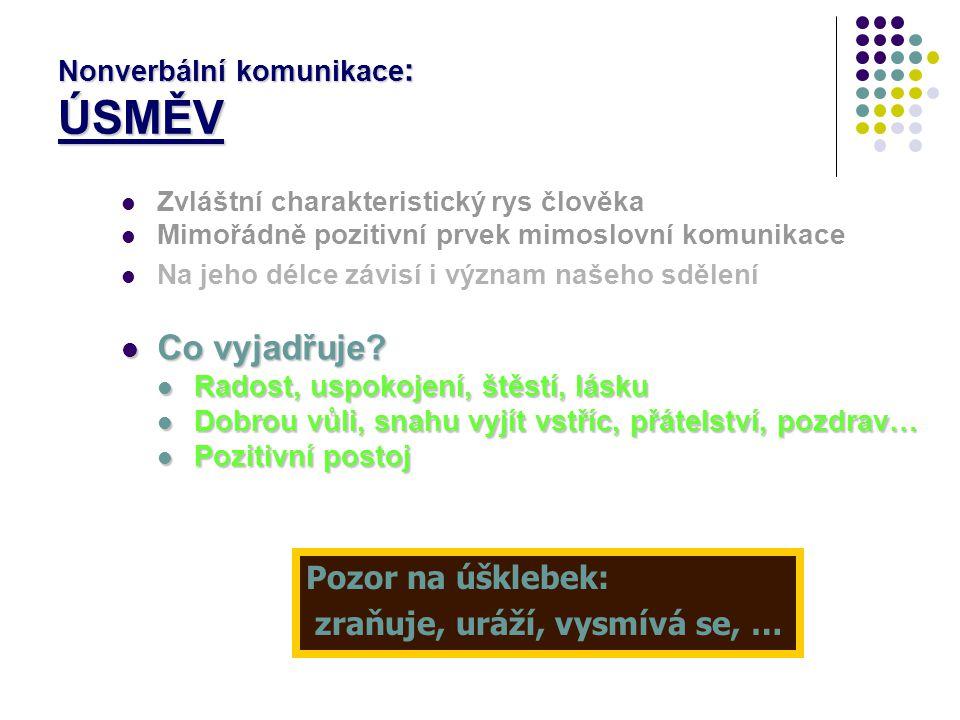 Nonverbální komunikace: ÚSMĚV