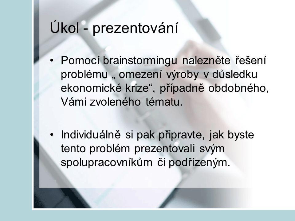 Úkol - prezentování