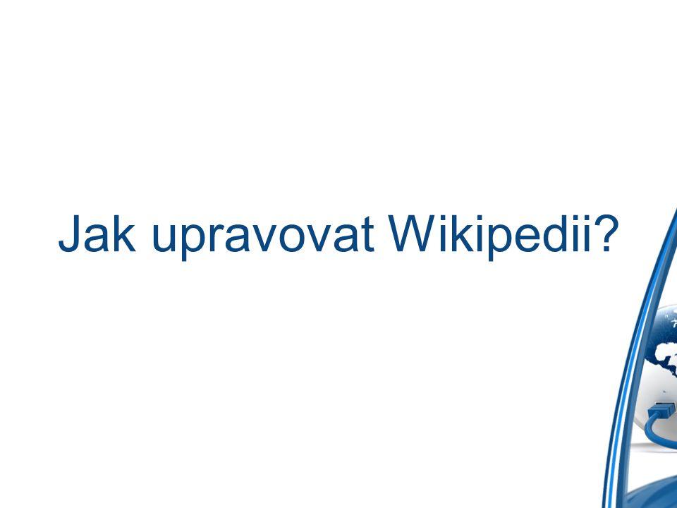 Jak upravovat Wikipedii