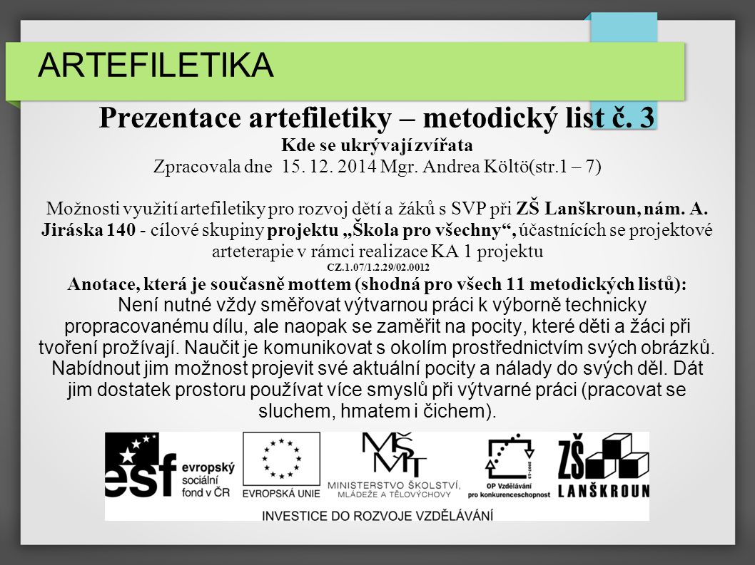 ARTEFILETIKA