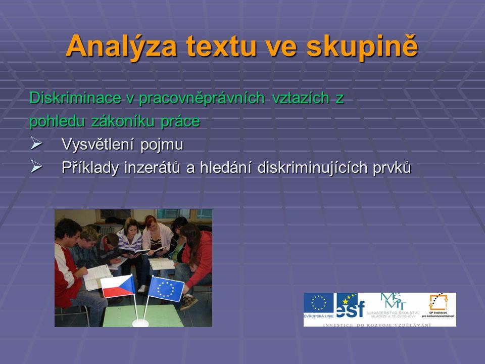 Analýza textu ve skupině