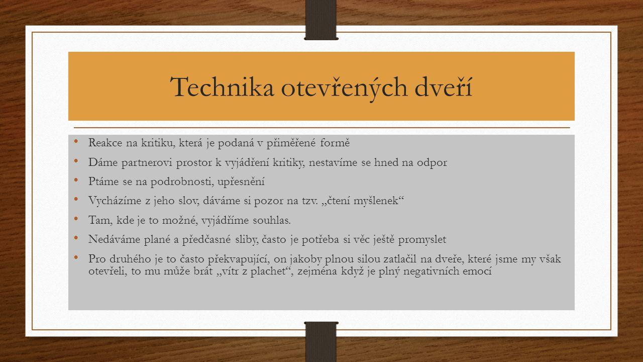 Technika otevřených dveří