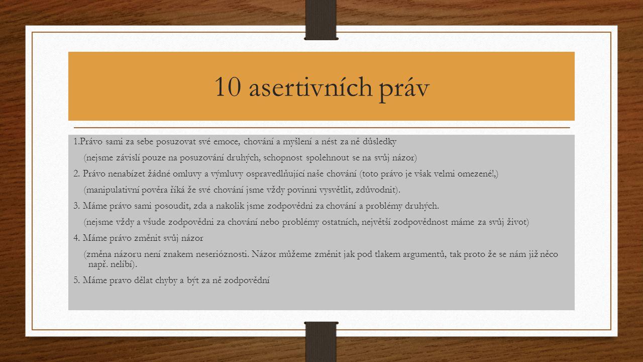 10 asertivních práv