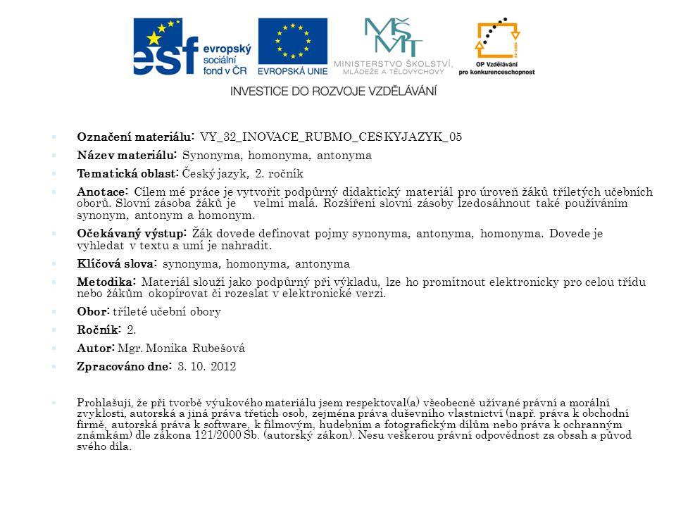 Označení materiálu: VY_32_INOVACE_RUBMO_CESKYJAZYK_05