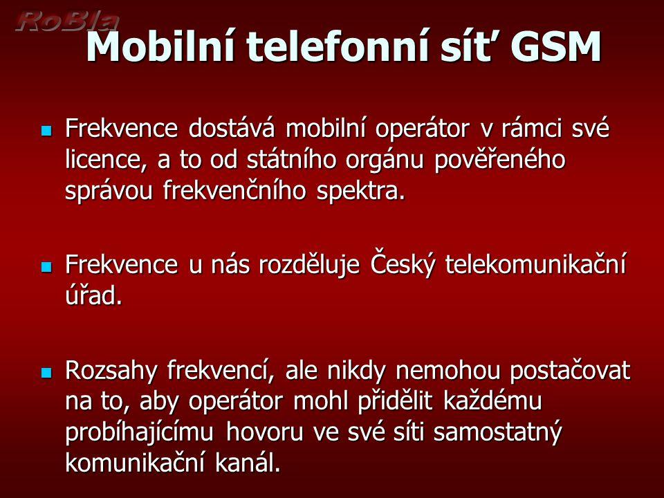 Mobilní telefonní síť GSM