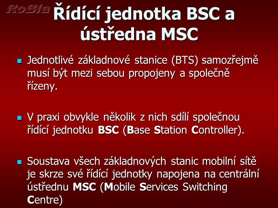 Řídící jednotka BSC a ústředna MSC