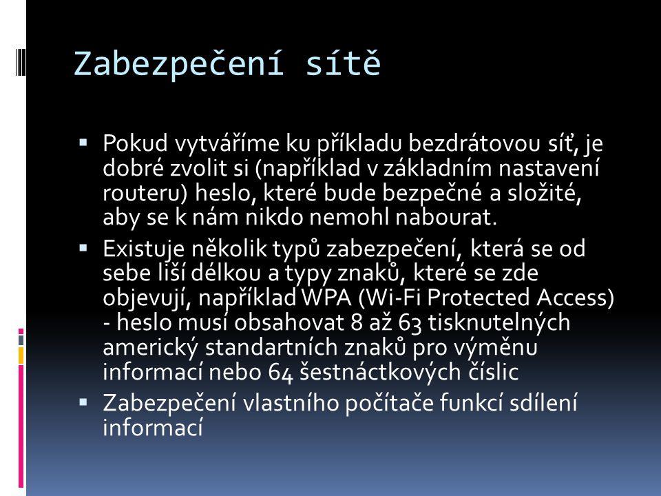 Zabezpečení sítě
