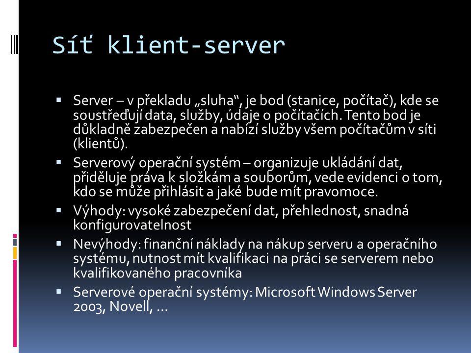 Síť klient-server