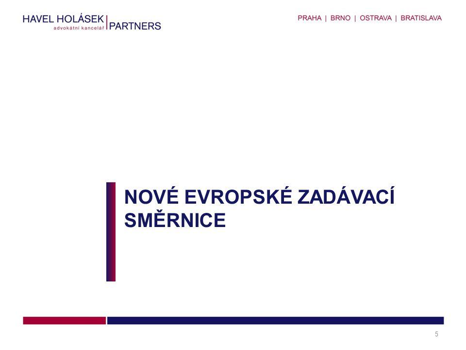 Nové evropské zadávací směrnice