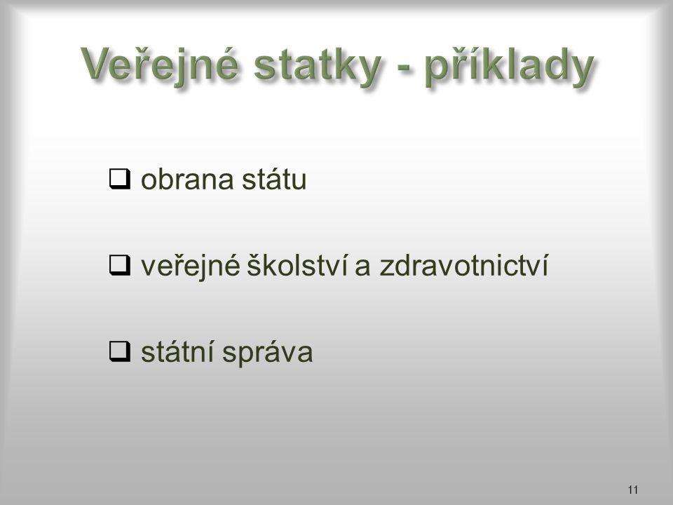 Veřejné statky - příklady