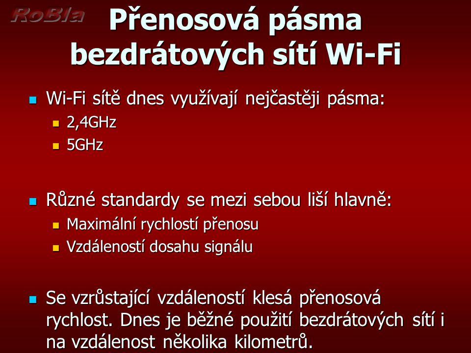 Přenosová pásma bezdrátových sítí Wi-Fi