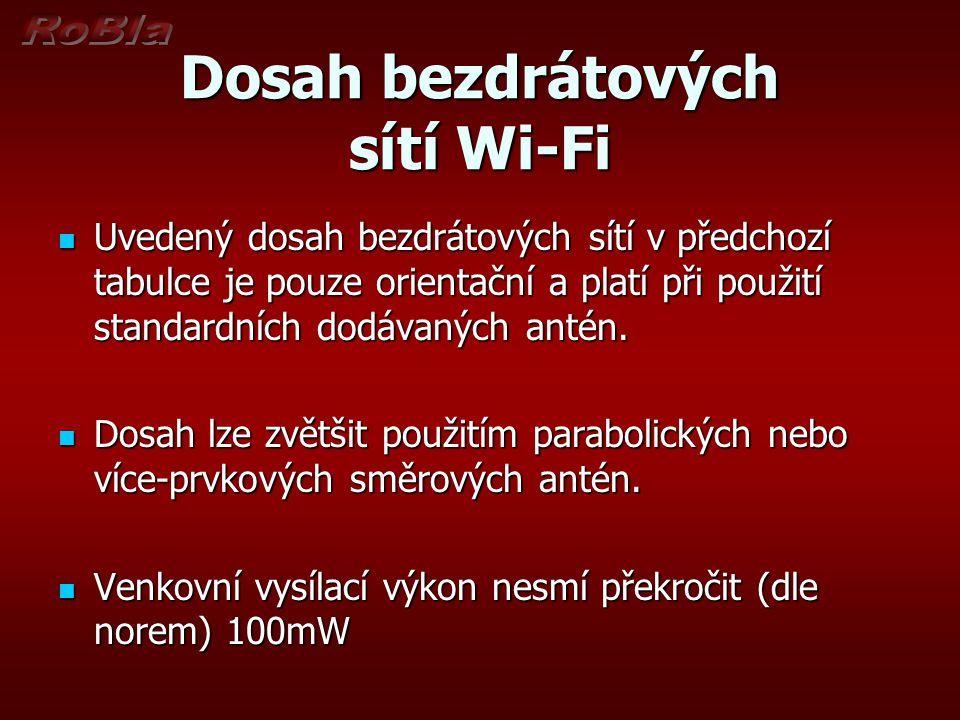 Dosah bezdrátových sítí Wi-Fi