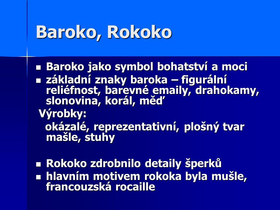 Baroko, Rokoko Baroko jako symbol bohatství a moci