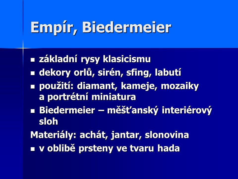 Empír, Biedermeier základní rysy klasicismu