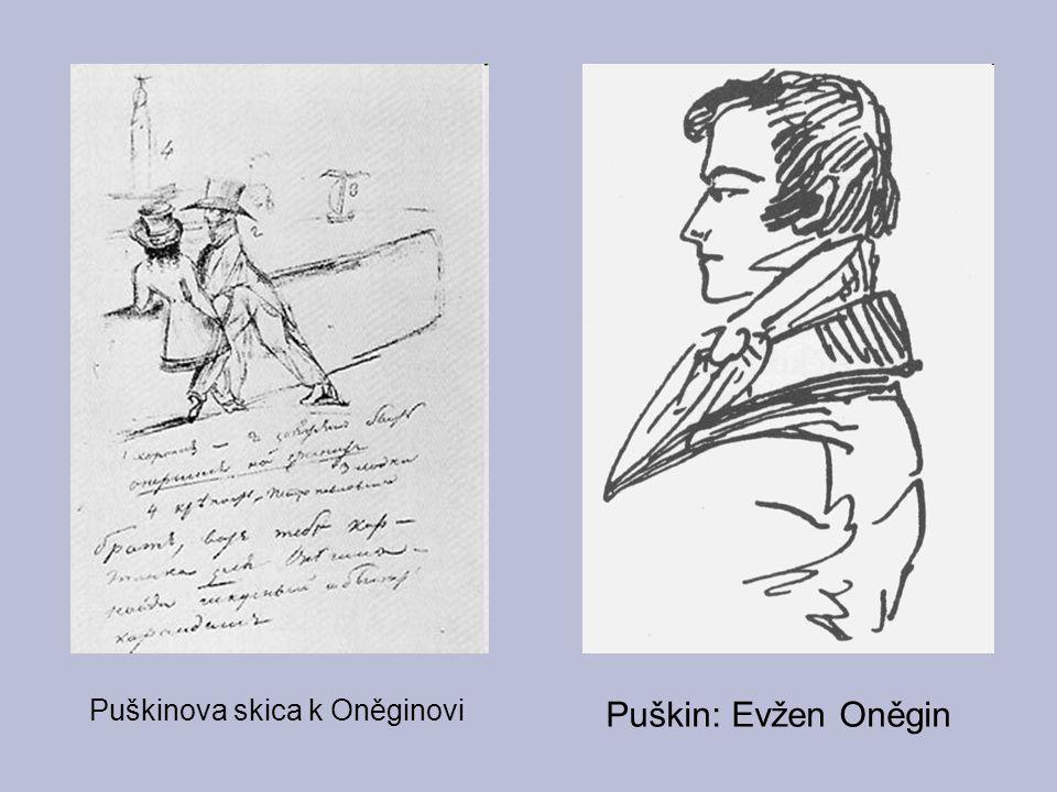 Puškinova skica k Oněginovi