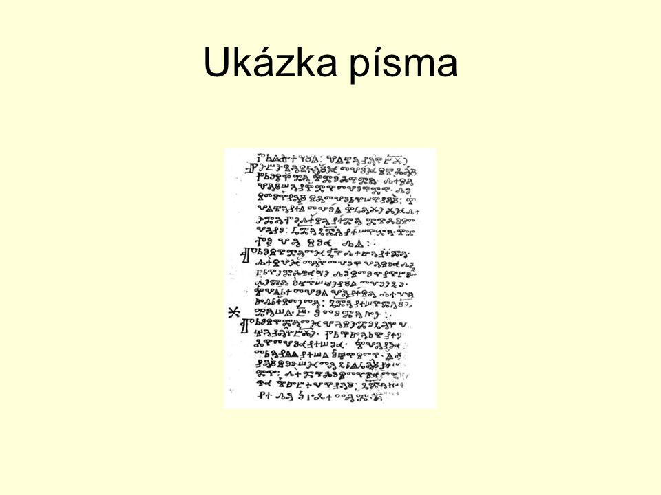 Ukázka písma