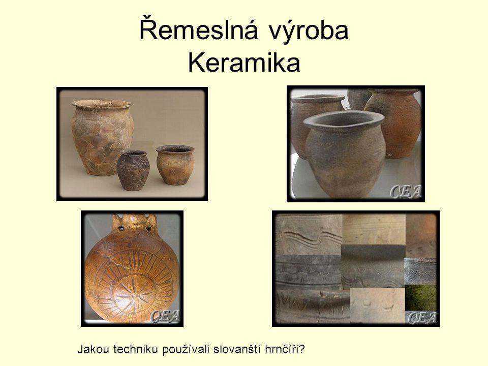 Řemeslná výroba Keramika
