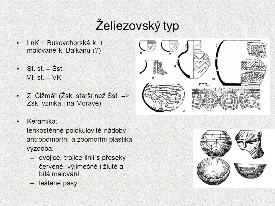 Želiezovský typ LnK + Bukovohorská k. + malované k. Balkánu ( )
