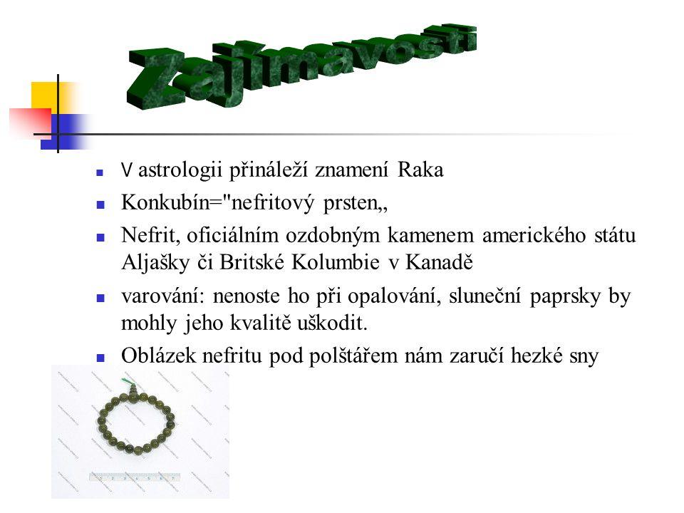 """Zajímavosti Konkubín= nefritový prsten"""""""