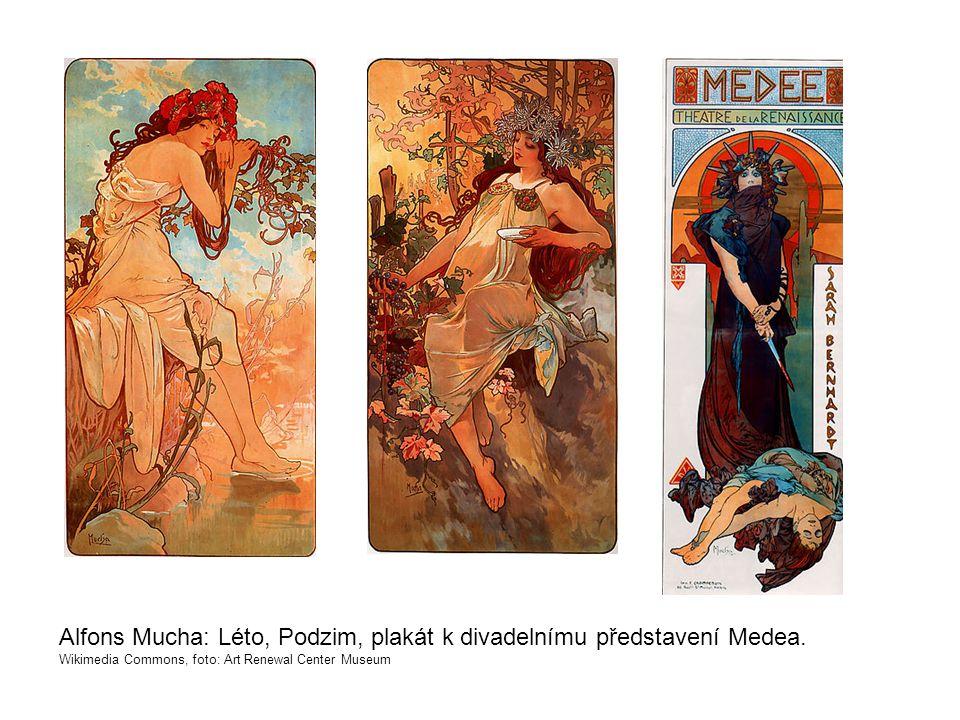 Alfons Mucha: Léto, Podzim, plakát k divadelnímu představení Medea