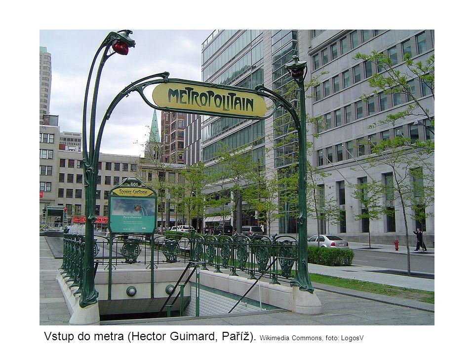 Vstup do metra (Hector Guimard, Paříž). Wikimedia Commons, foto: LogosV