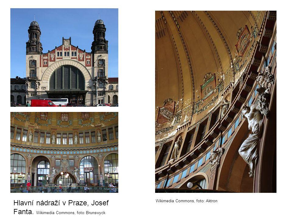 Hlavní nádraží v Praze, Josef Fanta. Wikimedia Commons, foto: Brunswyck
