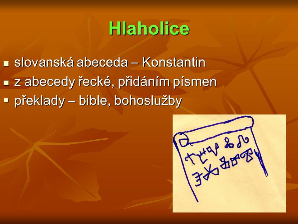 Hlaholice slovanská abeceda – Konstantin