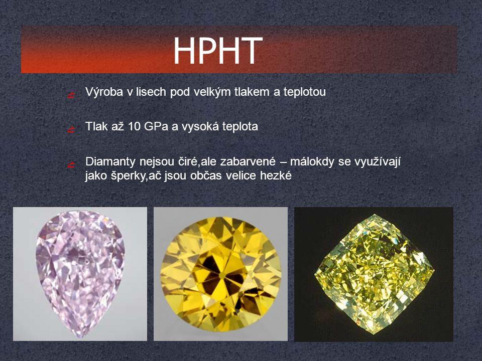 HPHT Výroba v lisech pod velkým tlakem a teplotou