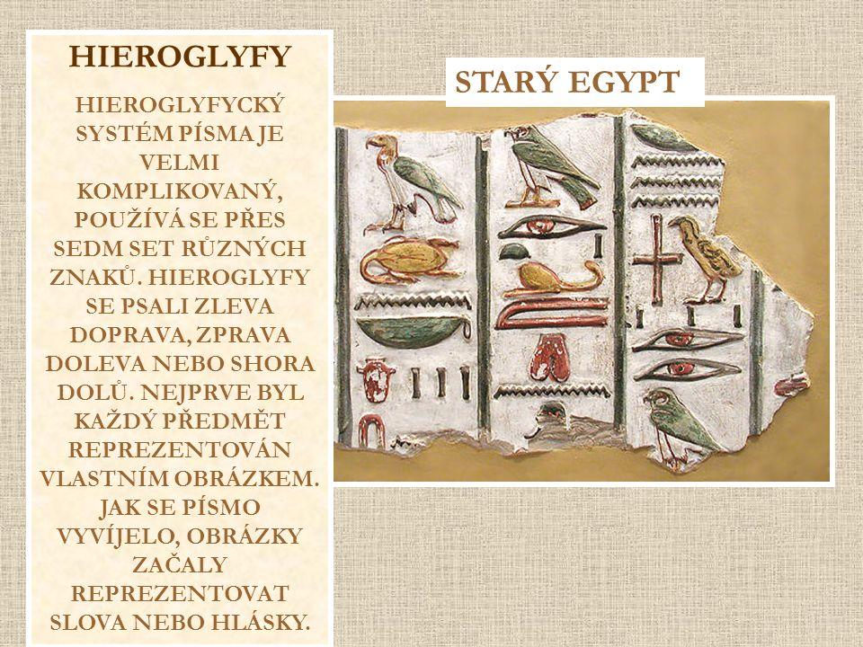HIEROGLYFY STARÝ EGYPT