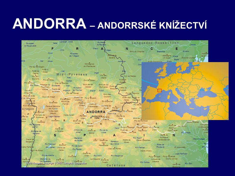 ANDORRA – ANDORRSKÉ KNÍŽECTVÍ
